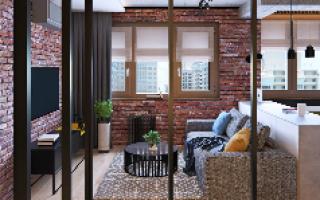 Перепланировка квартиры-студии в однокомнатную квартиру