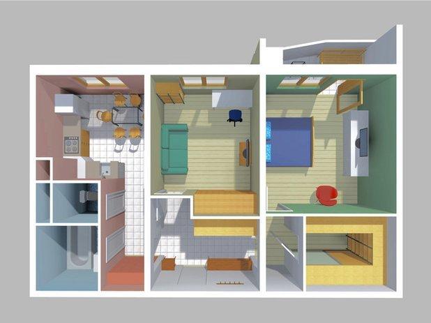 Перепланировка двухкомнатной квартиры: хрущевка, брежневка, серии П 44