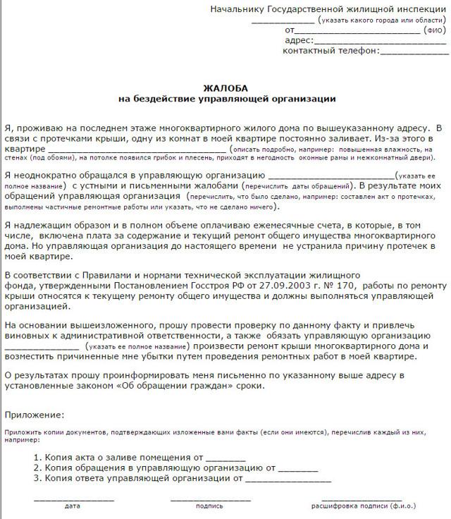 Образец коллективной жалобы на ЖКХ: как написать и подать такой документ в управляющую компанию?