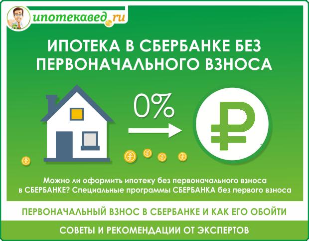 Как взять ипотеку без первоначального взноса в Сбербанке: как оформить документы и на каких условиях можно получить на покупку квартиры или дома?